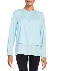 Calvin Klein Blue Layered-style Blouse