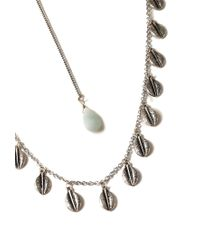 Forever 21 Metallic Faux Stone Statement Necklace
