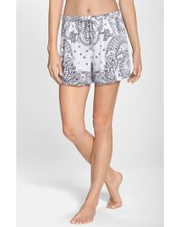 DKNY - White 'Uptown' Lounge Boxer Shorts - Lyst