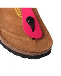 Birkenstock Pink Gizeh Leather T-bar Sandals