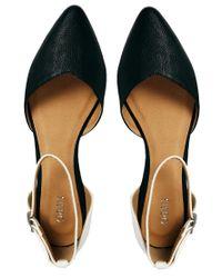 Oasis - Black Monochrome Two Part Flat Shoes - Lyst
