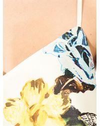 Tibi - Orange Tattoo-print Silk-gazar Top - Lyst