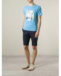 KENZO - Blue Multi Logo Print T-Shirt for Men - Lyst