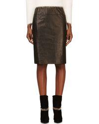 3.1 Phillip Lim - Black Lambskin Paperbag Skirt - Lyst