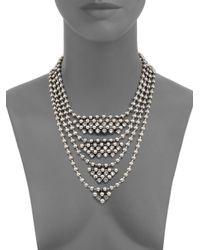 DANNIJO - Metallic Elizabeth Beaded Crystal Bib Necklace - Lyst
