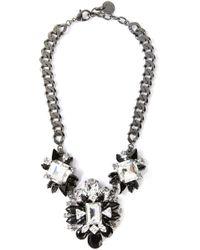Marina Fossati - Black Crystal Embellished Necklace - Lyst