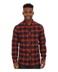 Billabong - Brown Anderson Long Sleeve Button Down Shirt for Men - Lyst