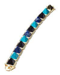Eddie Borgo | Blue Multi-stone Pyramid Bracelet | Lyst