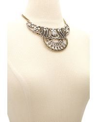 Forever 21 - Black Rhinestone Statement Necklace - Lyst