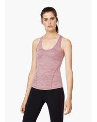 Mango | Red Fitness & Running - Technical Racerback T-shirt | Lyst