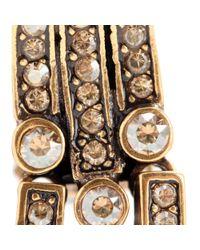 Oscar de la Renta - Metallic Crystal Embellished Clip-on Earrings - Lyst
