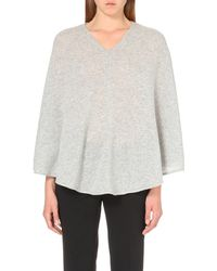 Theory | Gray Florencia Cashmere Poncho | Lyst
