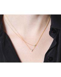 Vrai & Oro | Pink Trillion Diamond Necklace | Lyst