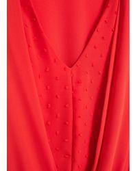 Mango - Orange V-neckline Dress - Lyst
