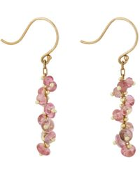 Ten Thousand Things | Metallic Pink Sapphire & Gold Short Spiral Drop Earrings | Lyst