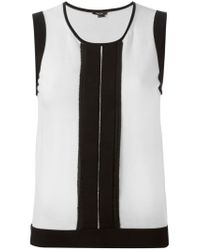 Raoul - Black Panelled Sleeveless Top - Lyst