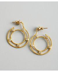 Gurhan - Metallic Gold and Diamond Deco Loop Earrings - Lyst