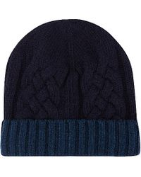 Paul Smith | Blue Mixed Knit Wool Beanie for Men | Lyst