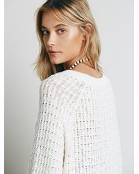 Free People - White Sunshine Sweaterdress - Lyst