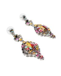 Tom Binns | Red Co Vert Rhodium and Silverplated Swarovski Crystal Earrings | Lyst