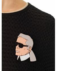 Yazbukey - Gray Karl Lagerfeld Brooch - Lyst