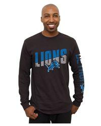 Junk Food Black Men's Long-sleeve Detroit Lions Top Shelf T-shirt for men