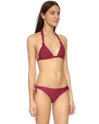Mikoh Swimwear - Red St John Triangle Bikini Top - Lyst
