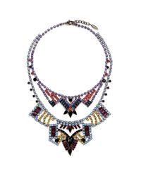 Joomi Lim | Multicolor 'rebel Romance' Crystal Double Strand Necklace | Lyst