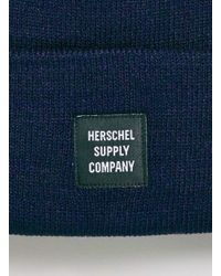 TOPMAN - Blue Herschel Navy Beanie for Men - Lyst
