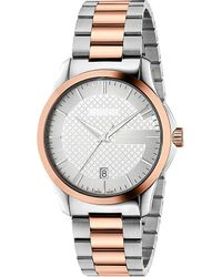 Gucci - Metallic Unisex Swiss G-timeless Rose Gold-tone Pvd And Stainless Steel Bracelet Watch 38mm Ya126447 - Lyst