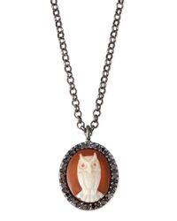 Amedeo | Gray Owl Carnelian Necklace With Diamonds | Lyst