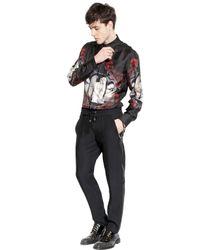 John Richmond Black 17Cm Viscose & Wool Gabardine Trousers for men