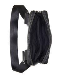 BOSS - Black 'sertik'   Leather Reporter Bag With Adjustable Strap for Men - Lyst
