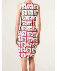 Fausto Puglisi - Red Statue Of Liberty Print Dress - Lyst