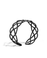 John Hardy | Black Classic Chain Woven Braided Cuff | Lyst