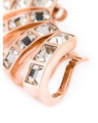 Ca&Lou - Metallic Glass Multiple Cuff Earrings - Lyst