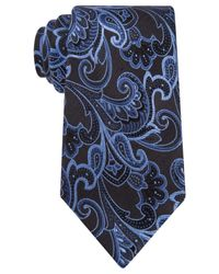Geoffrey Beene | Black Paisley Obsessed Tie for Men | Lyst
