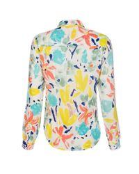 Paul Smith Women'S White 'Palette Floral' Print Shirt