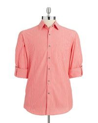 Kenneth Cole | Pink Button-down Shirt for Men | Lyst