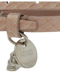 Alexander McQueen | Pink Snakeskin Double Wrap Bracelet | Lyst