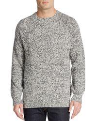 Vince | Gray Melange Knit Crewneck Sweater for Men | Lyst