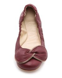 See By Chloé Purple Elastic Flats Hermes