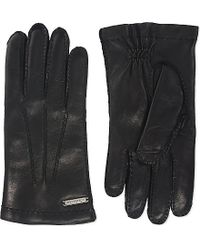 Corneliani | Black Nappa Leather Gloves for Men | Lyst