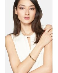 St. John | Metallic Bangle - Light Gold | Lyst