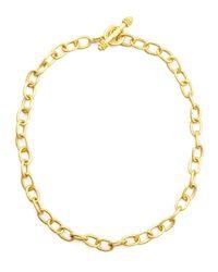 Elizabeth Locke | Metallic Volterra 19K Gold Link Necklace | Lyst