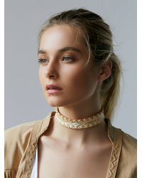 Free People - White Sun Ceremony Choker - Lyst