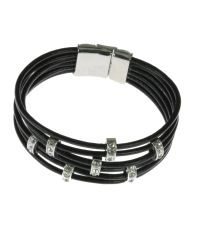 Indulgence Jewellery - Black 6 String Cord Bracelet - Lyst