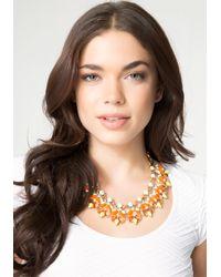 Bebe | Multicolor Neon Pop Stone Necklace | Lyst