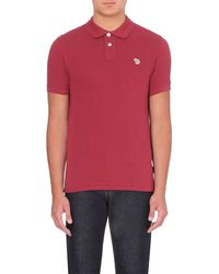 Paul Smith | Zebra-embroidered Slim-fit Polo Shirt for Men | Lyst