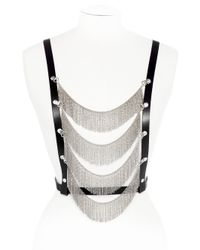 Maria Francesca Pepe - Metallic Tribal Leather Body Jewellery - Lyst